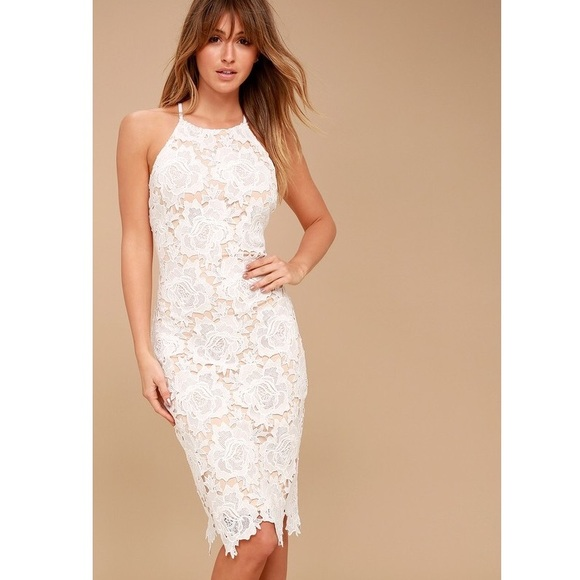 White Lace Dress Xs Rehearsal Bridal Shower Nwt Nwt